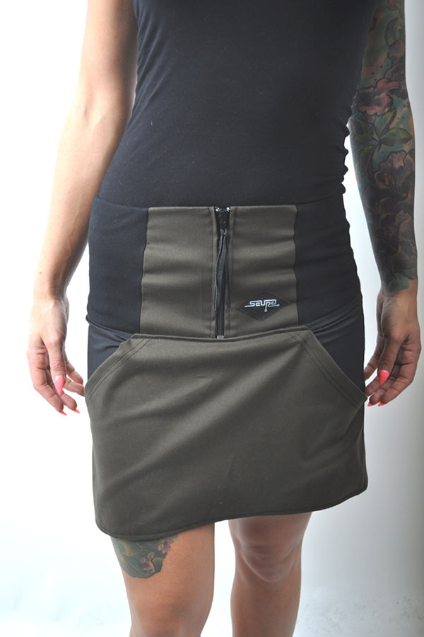 DifferentiX skirt khaki/black