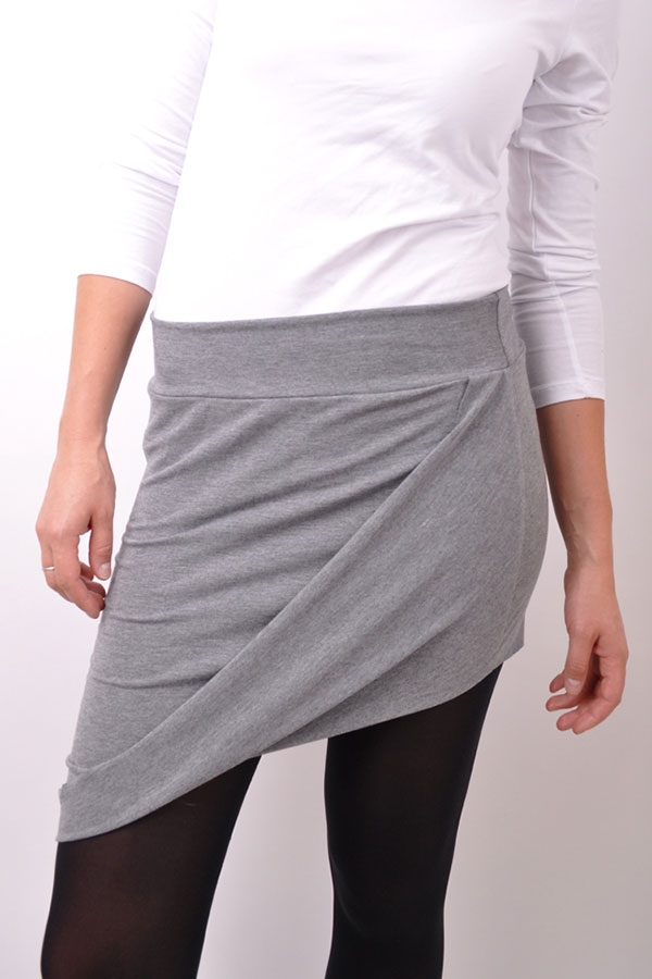 Folded skirtiX light grey