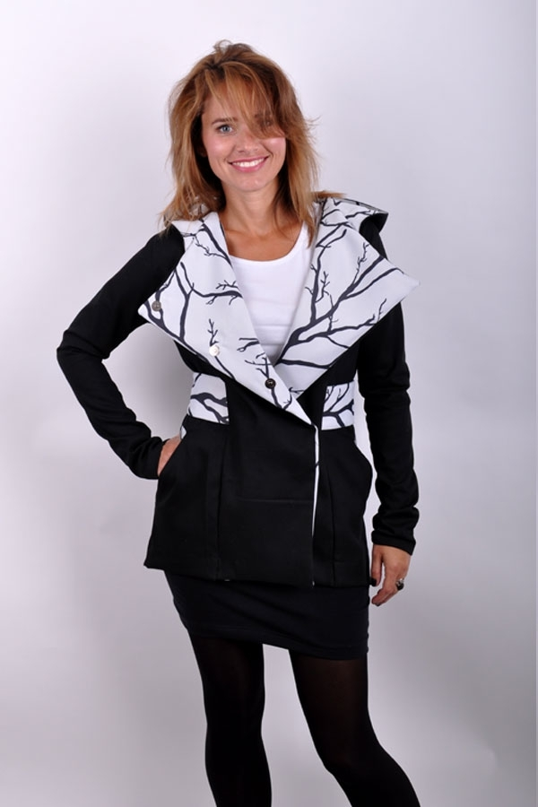 SpiritiX coat black/white