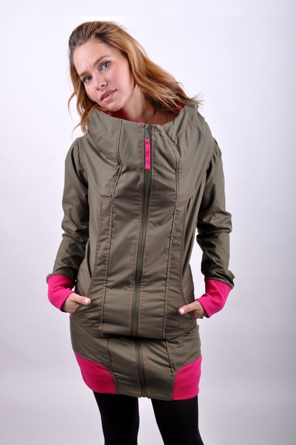 DifferentiX jacket Khaki/Pink