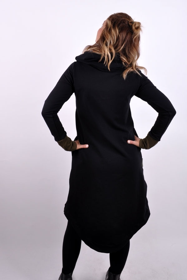 RoundiX WINTER hoody dress black/khaki