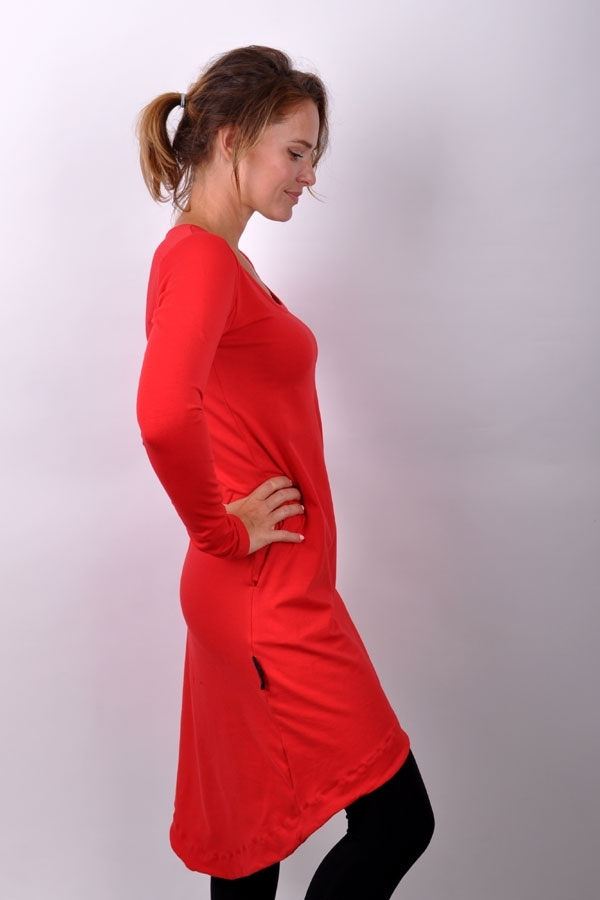RoundiX dress RED/long sleeve
