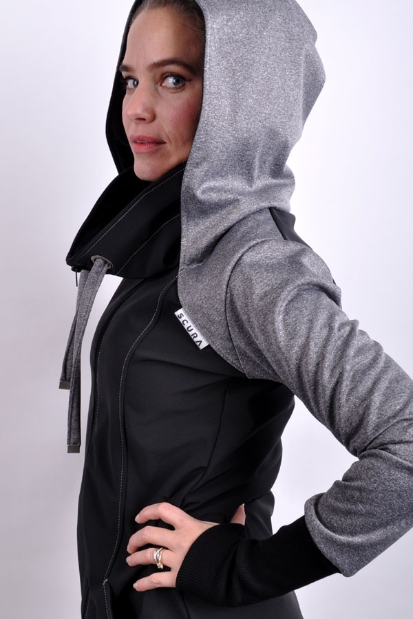 BlendhoodiX jacket grey melange/black